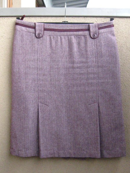 Elfie Szaty » Fioletowa spódnica w jodełkę